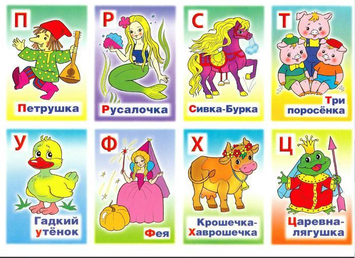 сказочные буквы русского алфавита картинки