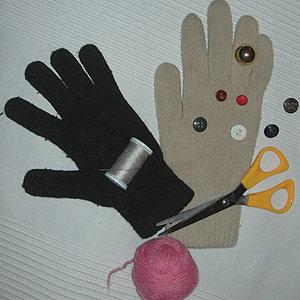 Как своими руками сделать куклу на руку из перчаток