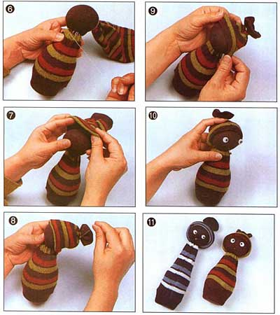 Куколка своими руками из носка 26